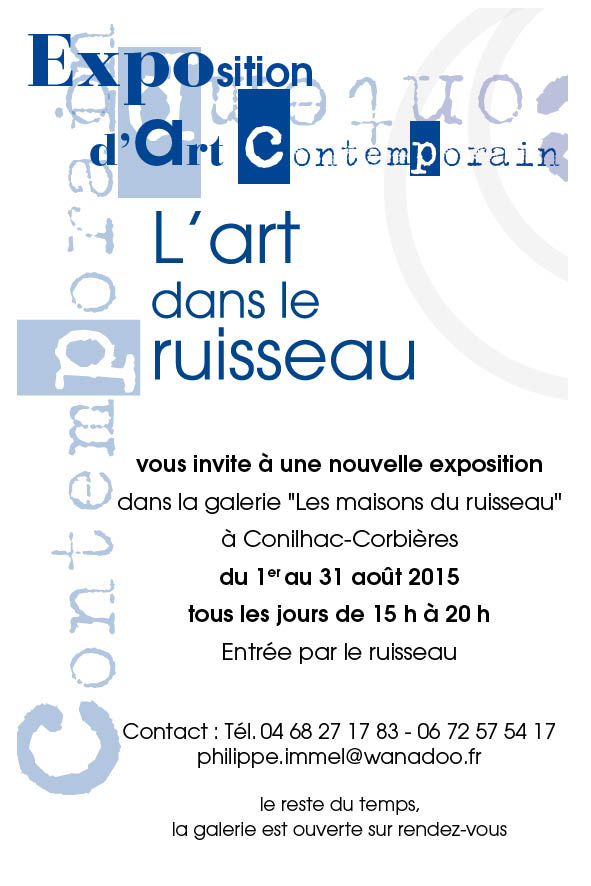 art ruisseau petit flyer 2015